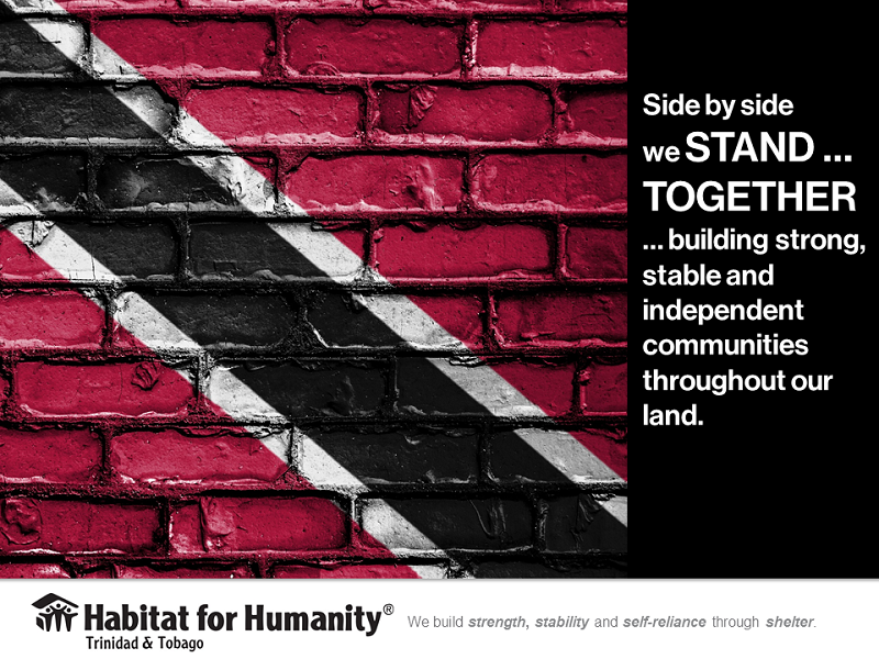 Side by side we STAND ... TOGETHER ... building strong, stable and independent communities throughout our land. #independence #trinidad #tobago