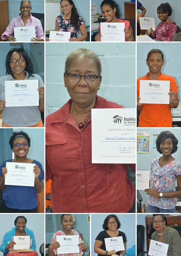 Collage of female faces of various ages, all holding certificates from the Volunteer Orientation in August 2018