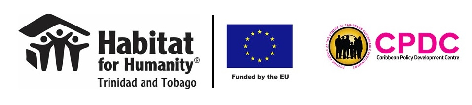 Logos: Habitat Trinidad-Tobago, the European Union, the Caribbean Policy Development Centre